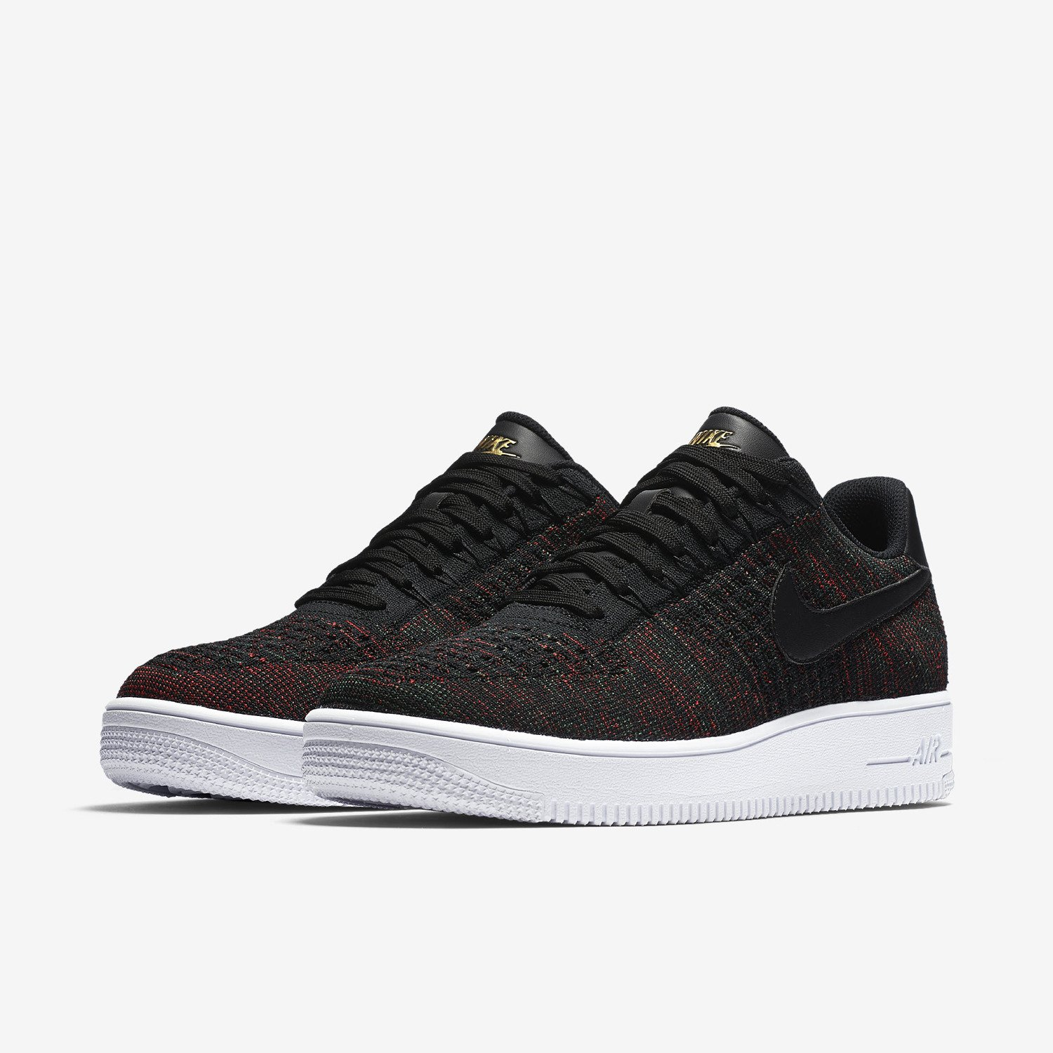 Nike Air Force 1 Ultra Flyknit Low Black Dark Grey White NSW HTM Lifestyle  Shoes 820256 9bbf26021034