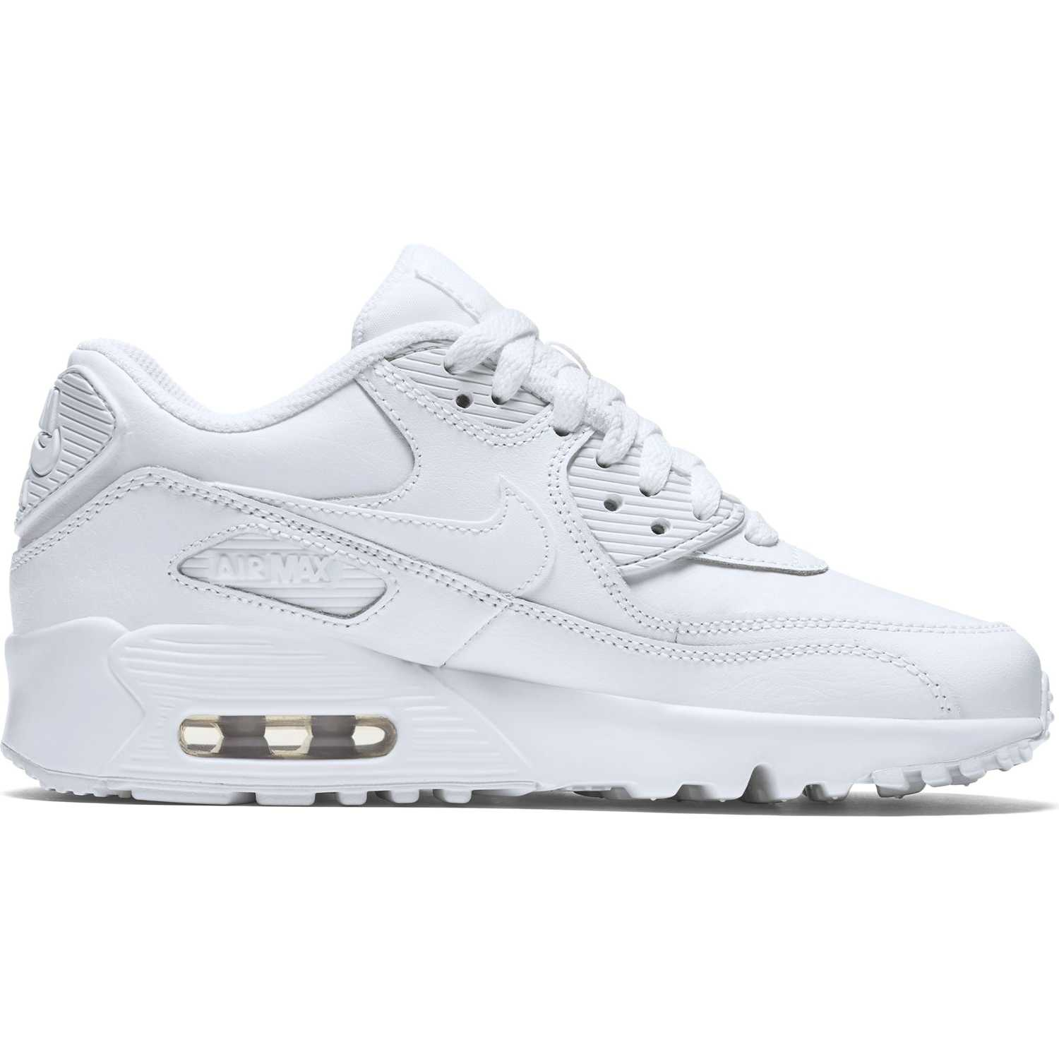 nike air max 90 leather all white 833412 100 sneaker shop. Black Bedroom Furniture Sets. Home Design Ideas